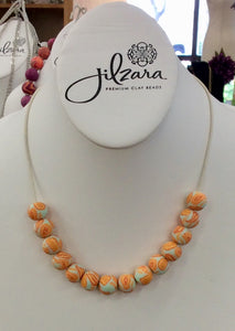Jilzarah Sea Shore Bead Long Leather Necklace