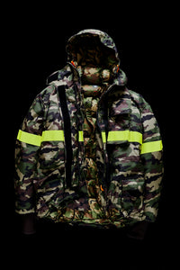FIREMAN DOWN JACKET WITH REFLECTIVE TAPES-CAMO