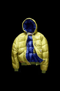 DOWN JACKET- LIME/BRIGHT BLUE