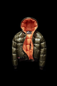 DOWN JACKET- OLIVE/ORANGE