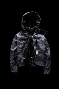 DOWN BOMBER-BLACK CAMO
