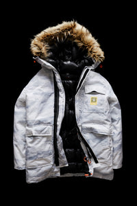 DOWN PARKA-WHITE CAMO