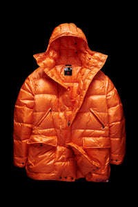 MID LENGTH DOWN PARKA-ORANGE