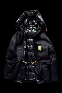 DOWN PARKA- BLACK