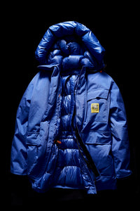 DOWN PARKA- BLUE