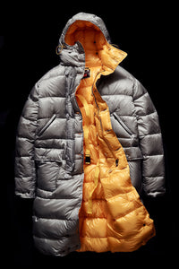 DOWN PARKA- GREY AND YELLOW