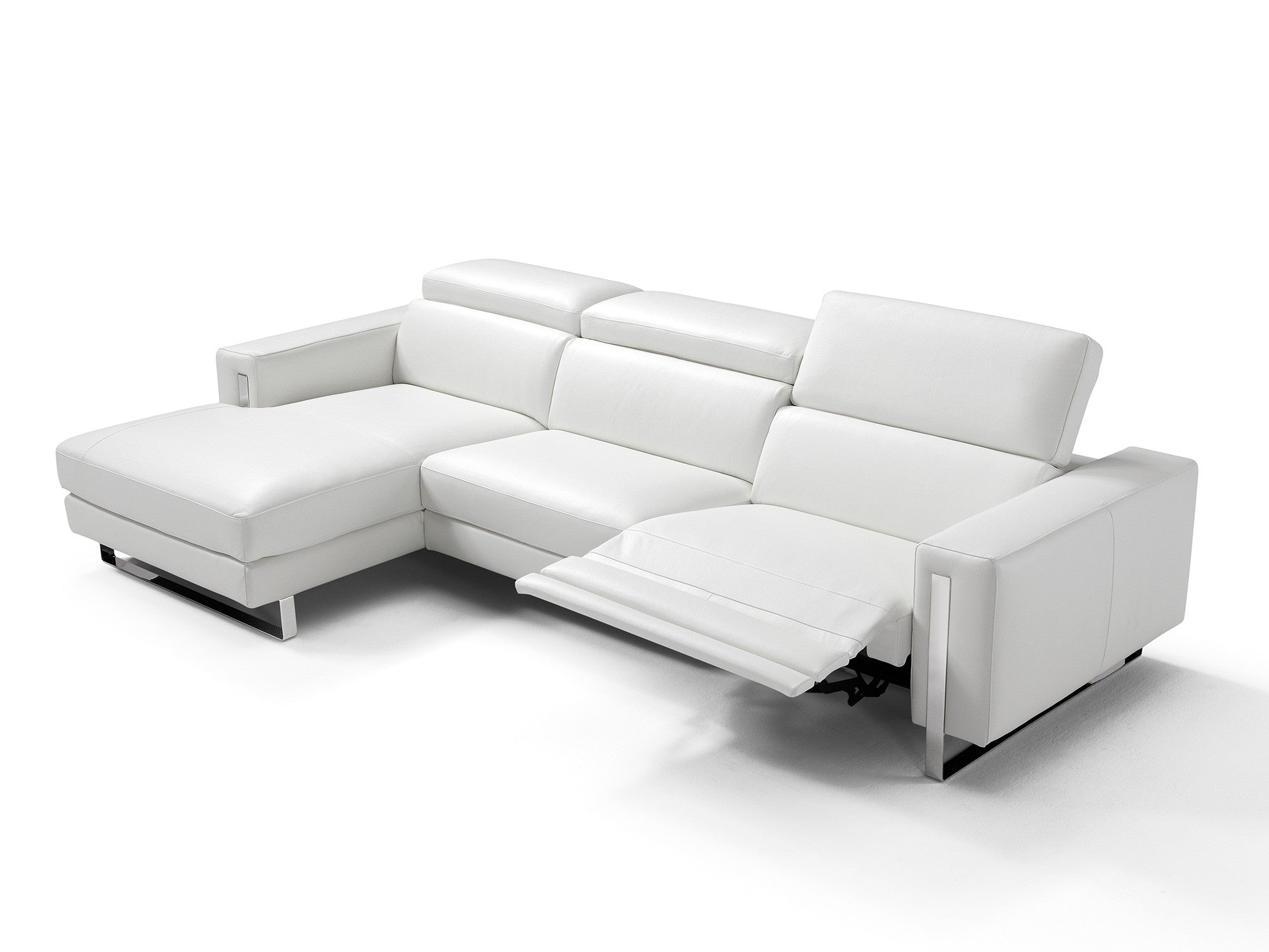 Awesome Adriano Italian Sectional Sofa Left Facing White Andrewgaddart Wooden Chair Designs For Living Room Andrewgaddartcom