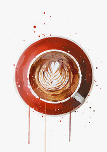 Hot Drinks Wall Art Print
