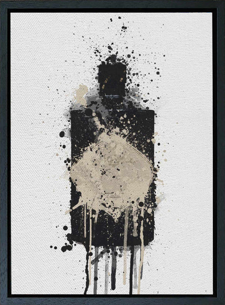 Premium Canvas Wall Art Print Gin Bottle 'Onyx'-We Love Prints