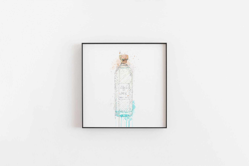 Gin Bottle Wall Art Print 'Hebridean Hue'-We Love Prints