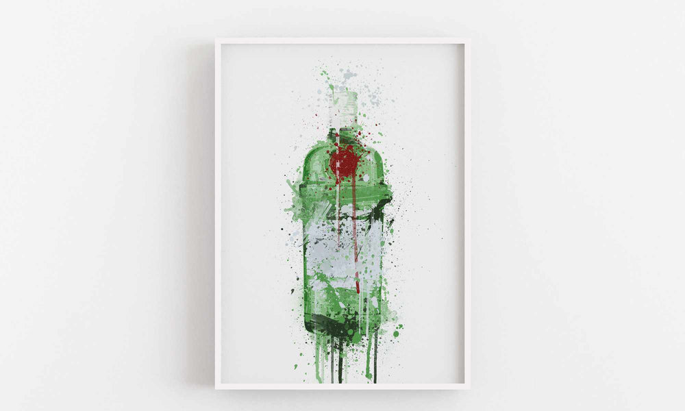 Gin Bottle Wall Art Print 'Emerald'-We Love Prints
