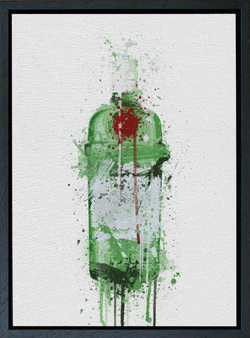 Premium Canvas Wall Art Print Gin Bottle 'Emerald'-We Love Prints