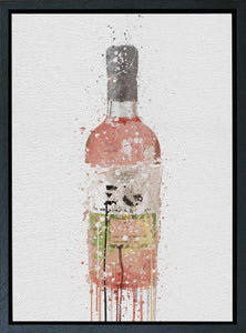 Premium Canvas Wall Art Print Gin Bottle 'Pink'-We Love Prints