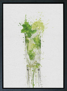 Premium Canvas Wall Art Print Mojito Cocktail-We Love Prints