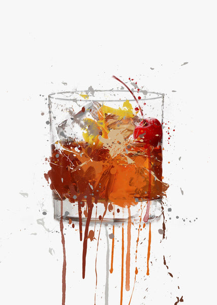 Old Fashioned Cocktail Wall Art Print