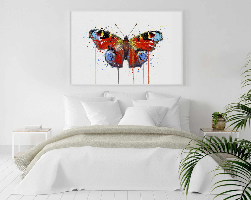 Butterfly Wall Art Print 'Peacock'