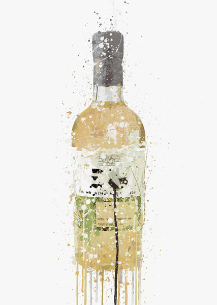 Gin Bottle Wall Art Print 'Meadow'-We Love Prints