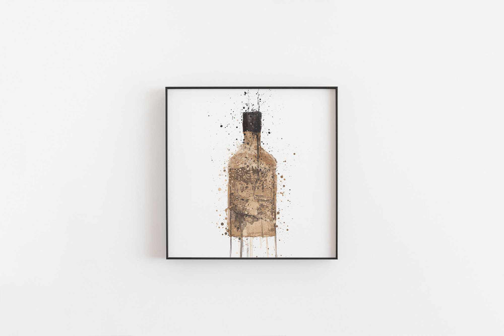 Gin Bottle Wall Art Print 'Tan'-We Love Prints