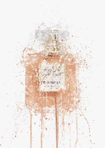 Fragrance Bottle Wall Art Print 'Blush'