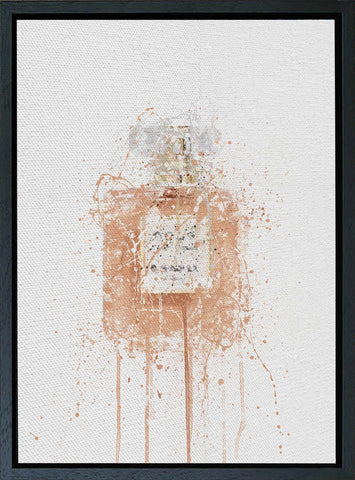 Premium Canvas Wall Art Print Fragrance Bottle 'Blush'-We Love Prints