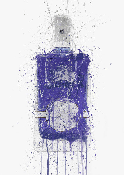 Gin Bottle Wall Art Print 'Periwinkle'-We Love Prints