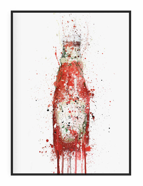 Tomato Ketchup Wall Art Print-We Love Prints