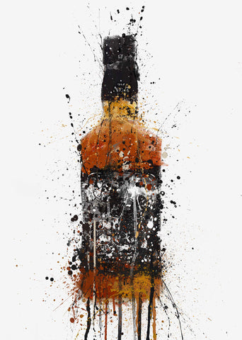 Whiskey Bottle Wall Art Print 'Umber'-We Love Prints
