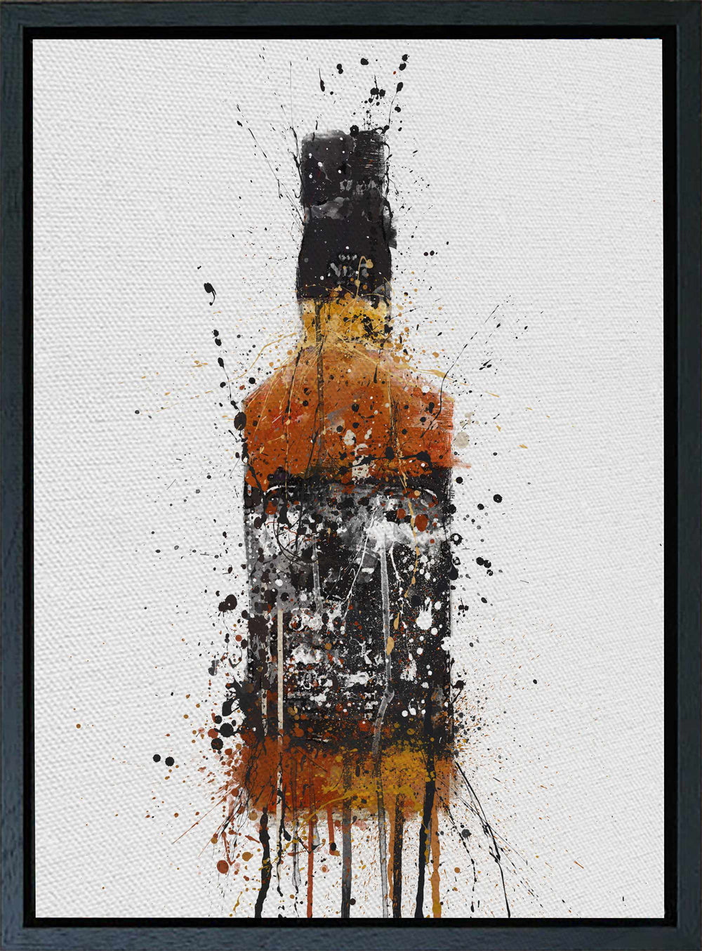 Premium Canvas Wall Art Print Whiskey Bottle 'Umber'-We Love Prints