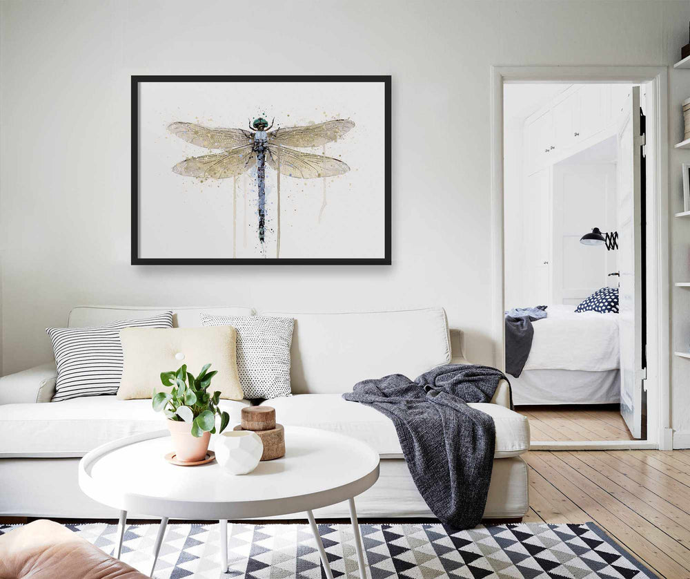 Dragonfly Wall Art Print 'Powder Blue'