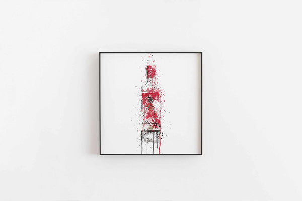 Gin Bottle Wall Art Print 'Ruby'-We Love Prints