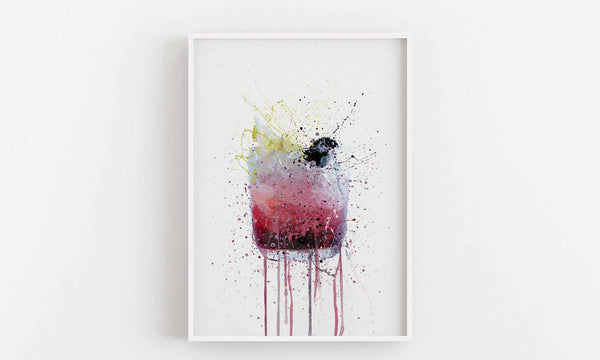 Bramble Cocktail Wall Art Print