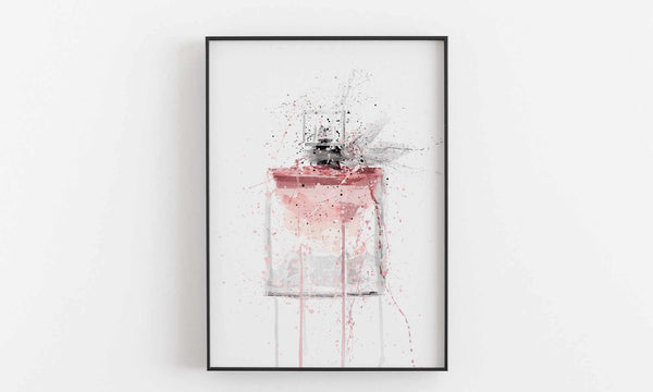 Fragrance Bottle Wall Art Print 'Pink'