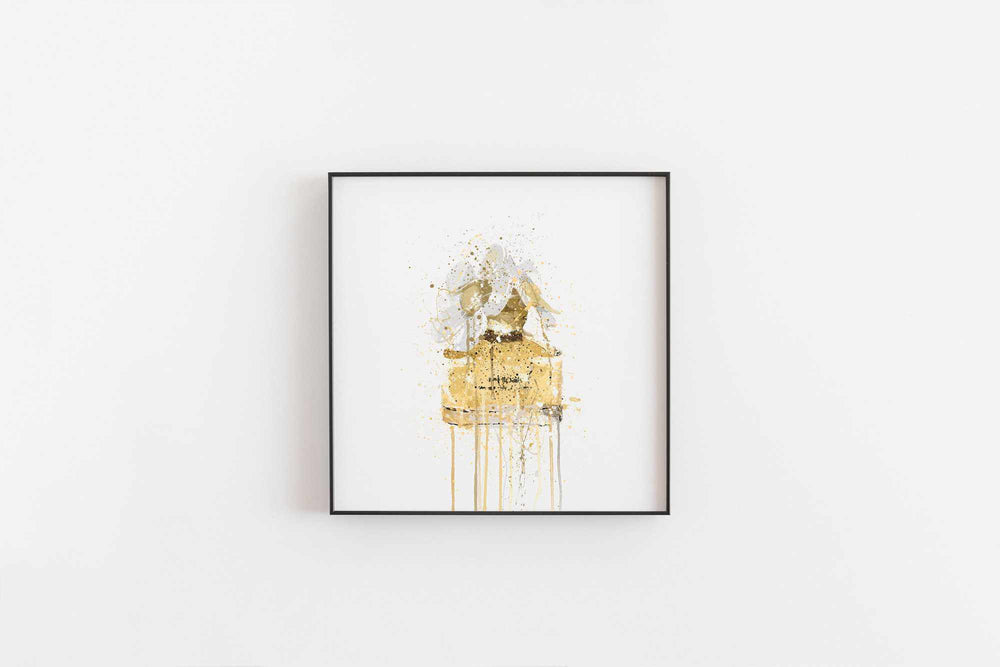 Fragrance Bottle Wall Art Print 'Yellow'-We Love Prints