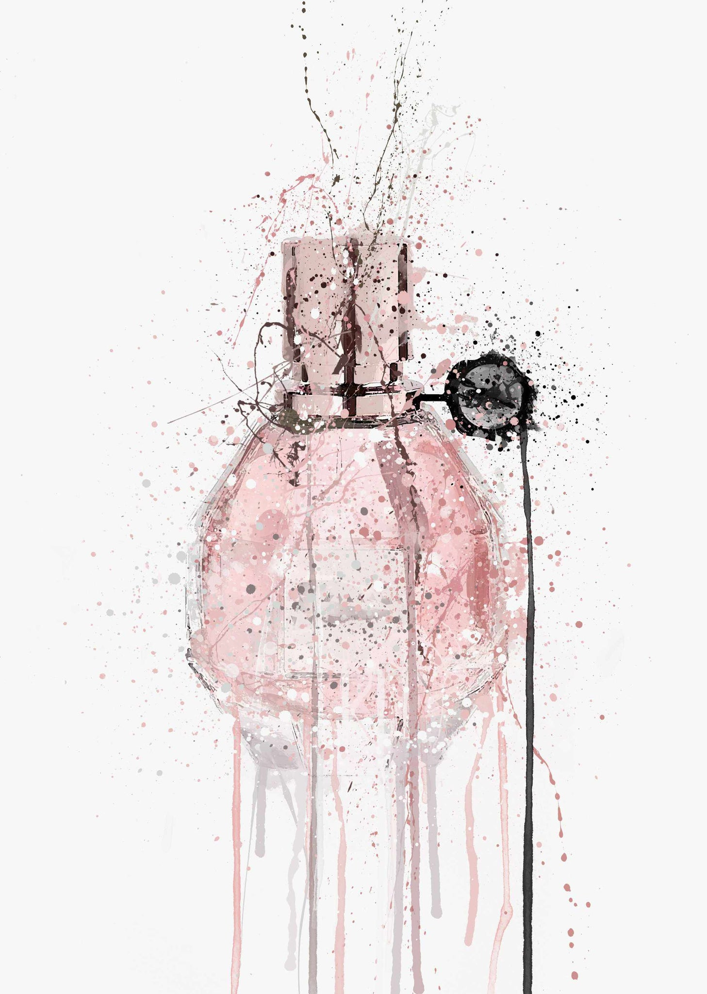 Fragrance Bottle Wall Art Print 'Candy'-We Love Prints