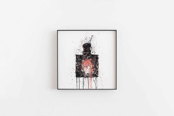 Fragrance Bottle Wall Art Print 'Onyx'