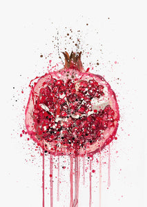 Pomegranate Fruit Wall Art Print-We Love Prints