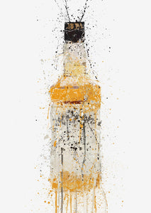 Whiskey Bottle Wall Art Print 'Amber'-We Love Prints