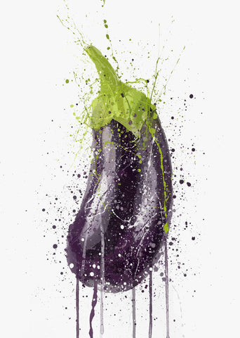 Eggplant Vegetable Wall Art Print-We Love Prints