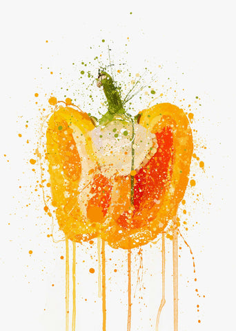 Orange Pepper Vegetable Wall Art Print-We Love Prints