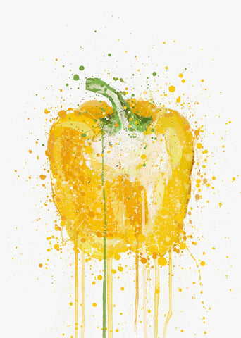 Yellow Pepper Vegetable Wall Art Print-We Love Prints