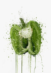 Green Pepper Vegetable Wall Art Print-We Love Prints