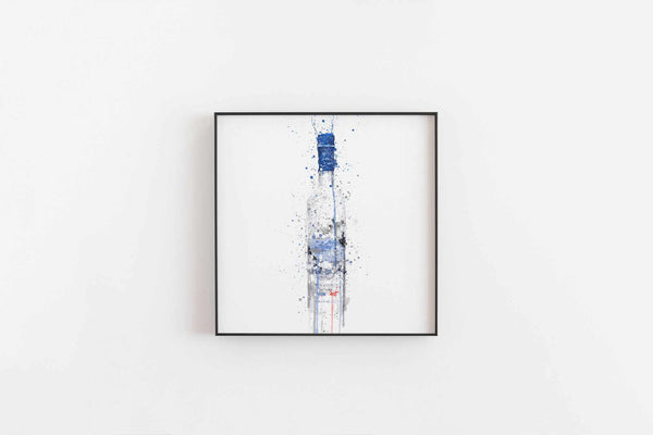 Vodka Bottle Wall Art Print 'Frost'-We Love Prints