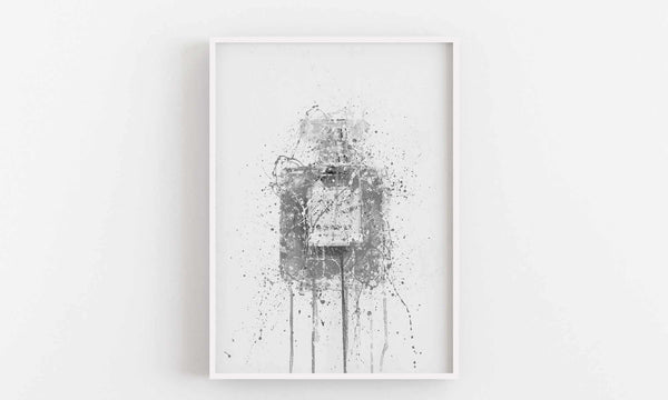 Fragrance Bottle Wall Art Print 'Blush' (Grey Edition)-We Love Prints