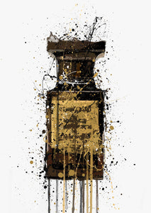 Fragrance Bottle Wall Art Print 'Obsidian'