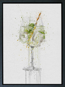 Premium Canvas Wall Art Print Gin and Tonic Goblet Glass-We Love Prints