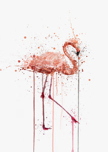 Pink Flamingo Wall Art Print-We Love Prints