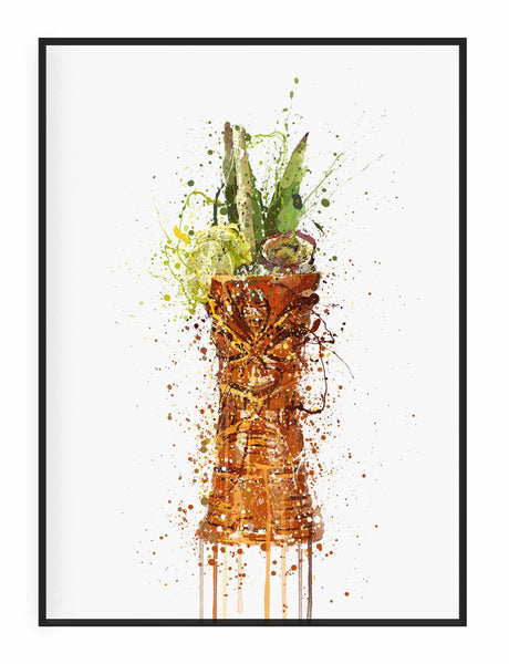Tiki Glass Wall Art Print-We Love Prints