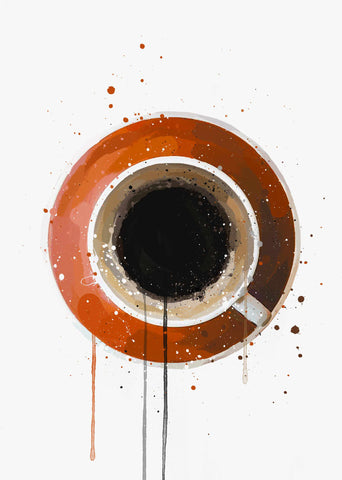 Coffee Wall Art Print 'Americano'-We Love Prints