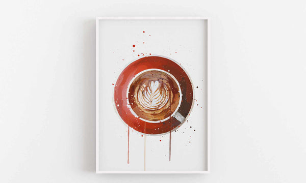 Coffee Wall Art Print 'Flat White'-We Love Prints