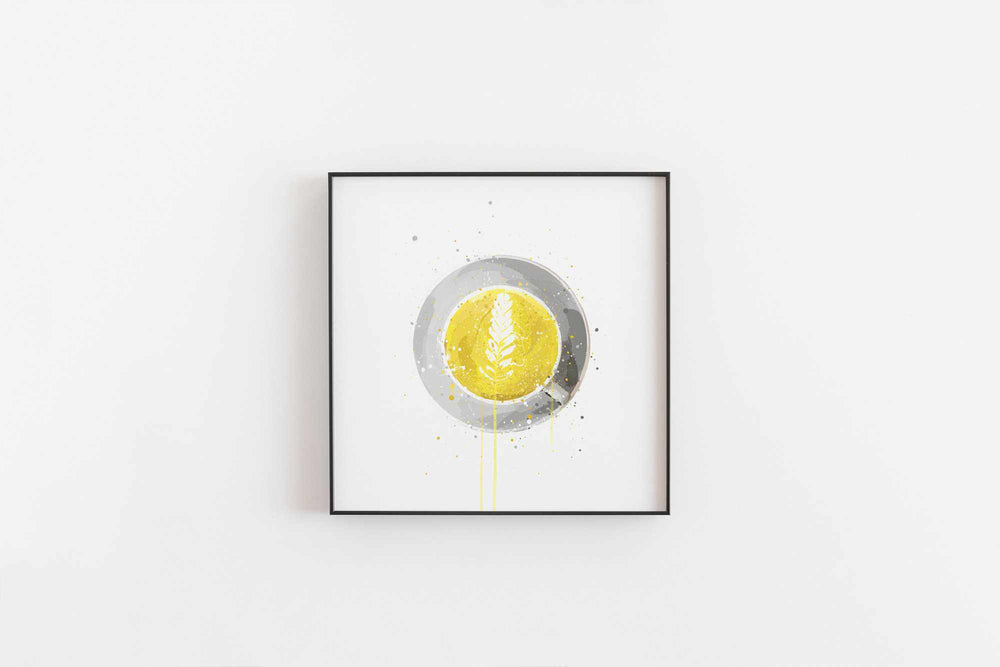 Tea Wall Art Print 'Turmeric Latte'-We Love Prints